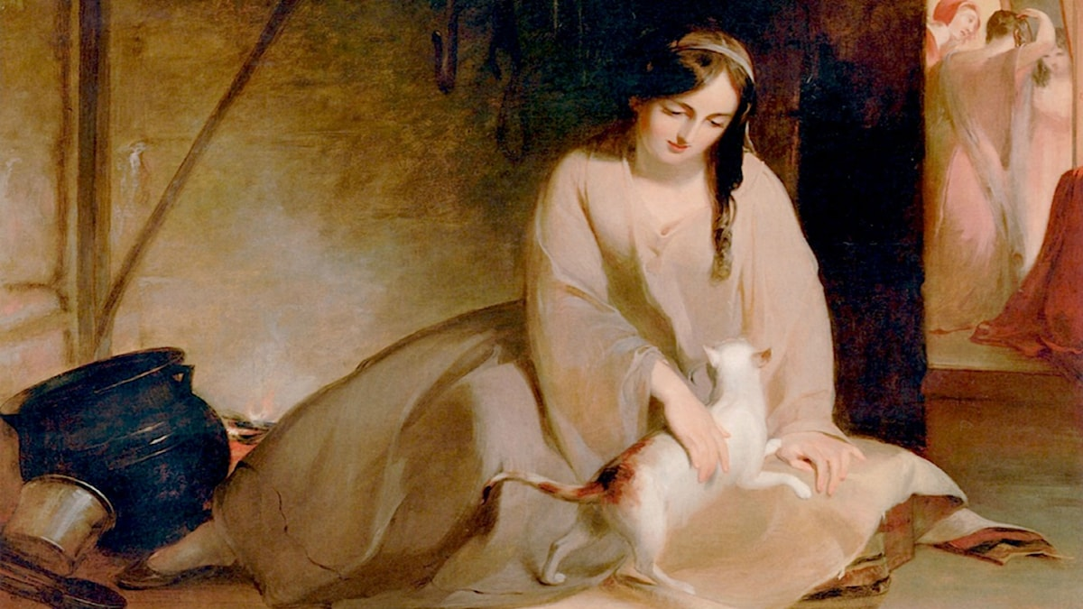 Cinderella at the Kitchen Fire. Thomas Sully (1848)