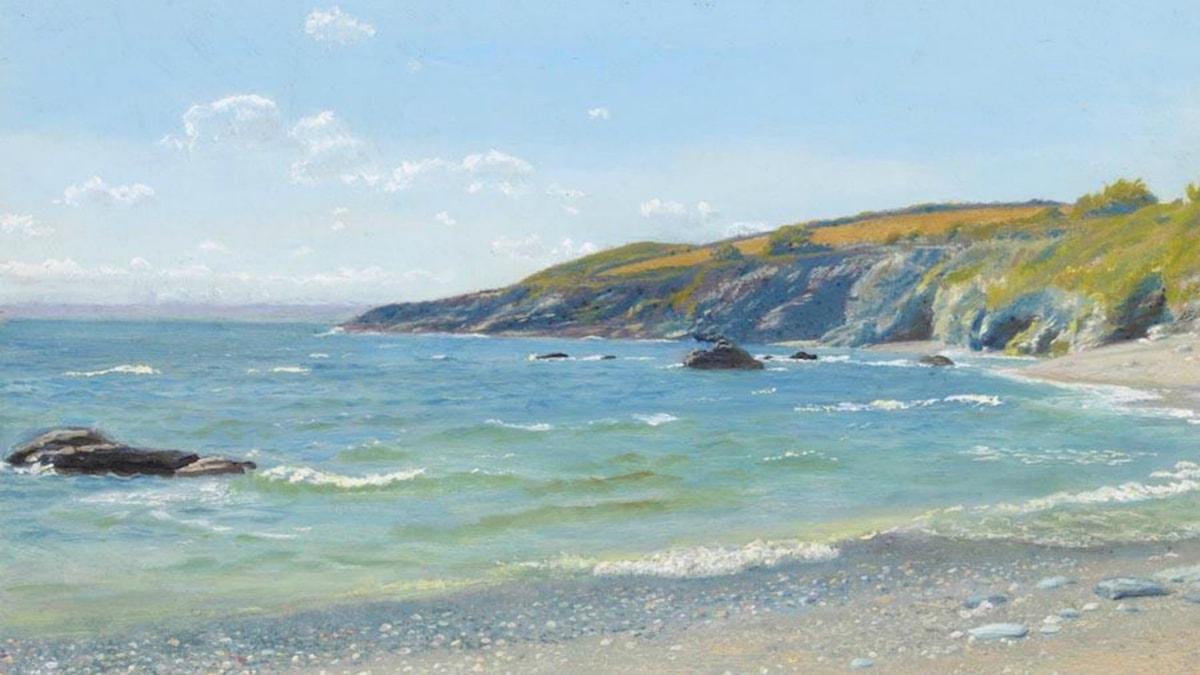 'Perran point, Cornwall'. Arthur Hughes.