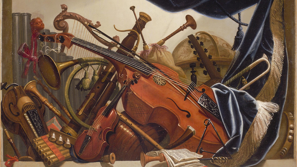 Barockinstrument. Elias van Nijmegen (mellan 1700 och 1750).