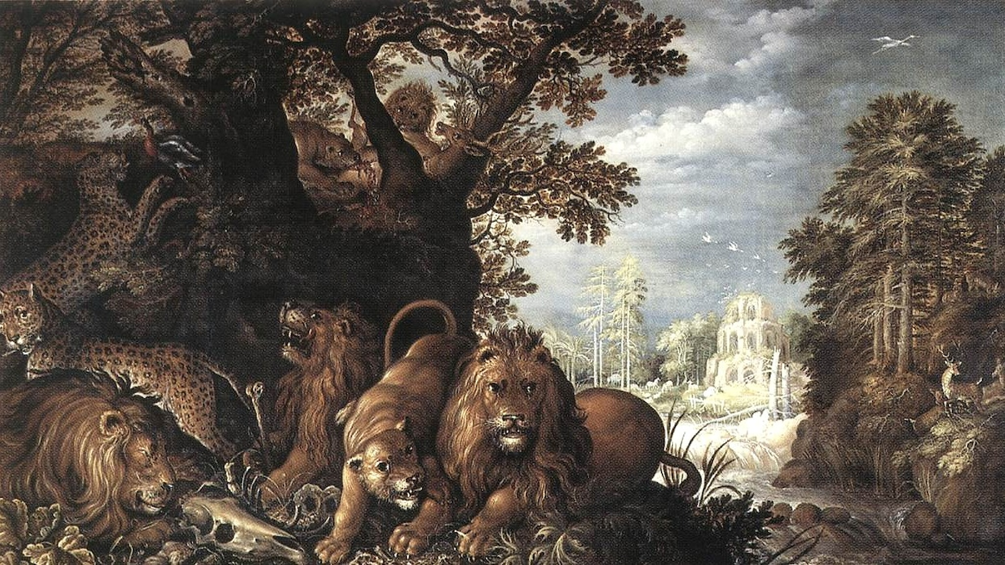 Landskap med vilda djur. Roelant Savery. Wikimedia.