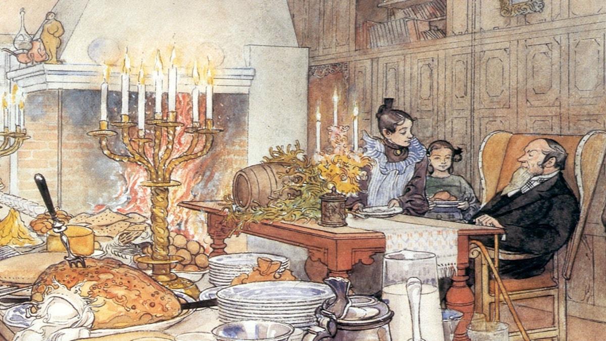 Detalj ur Julafton. Carl Larsson (1906)