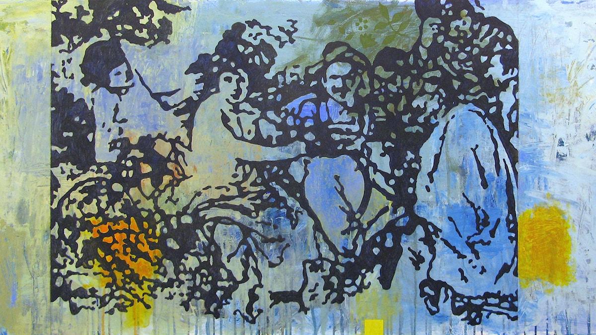 Bacchus Målning av Mats Ceder