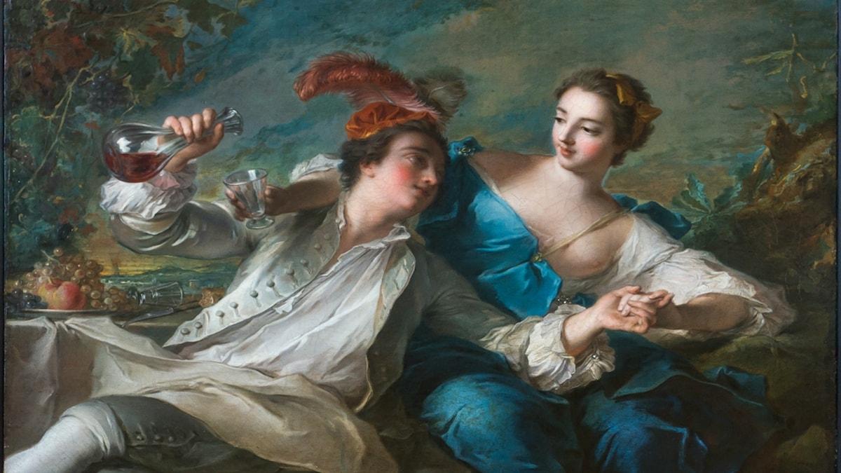 'De älskande'. Jean-Marc Nattier (1744).