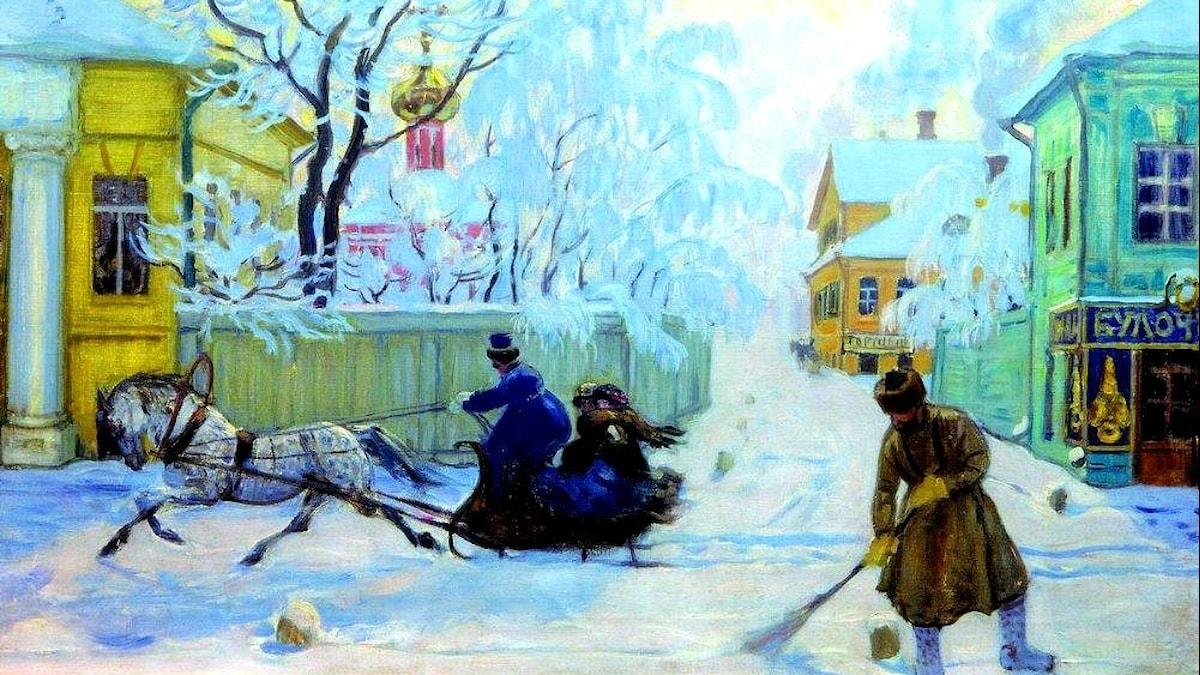 Boris Kustodiev: Kall morgon (1913)