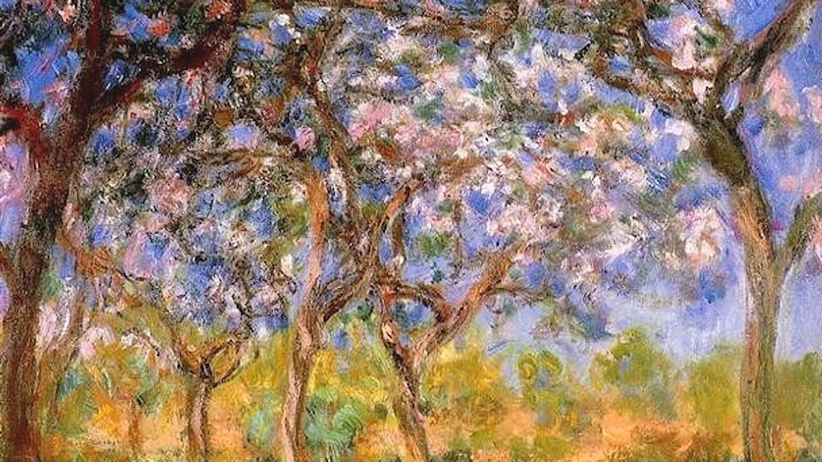 Giverny in Springtime. Claude Monet 1899-1900