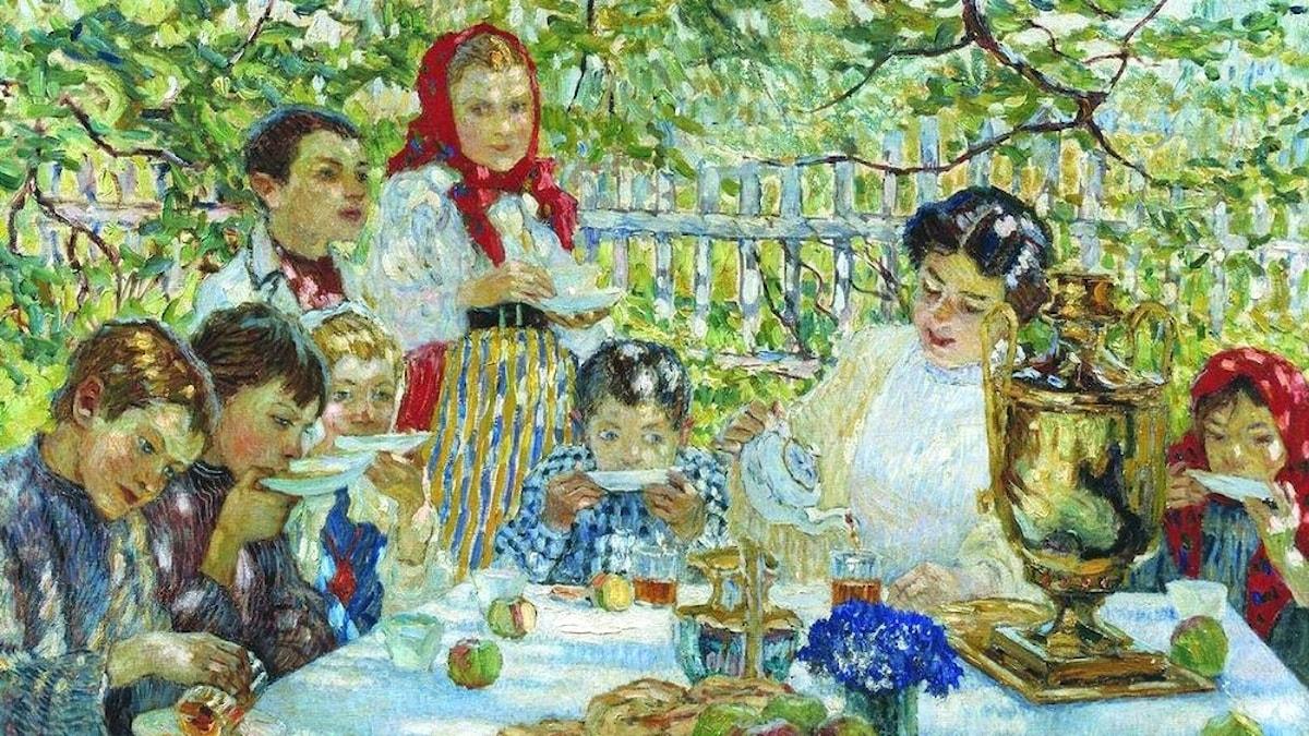 Nikolaj Bogdanov-Belsky: Lärarens födelsedag ca 1920