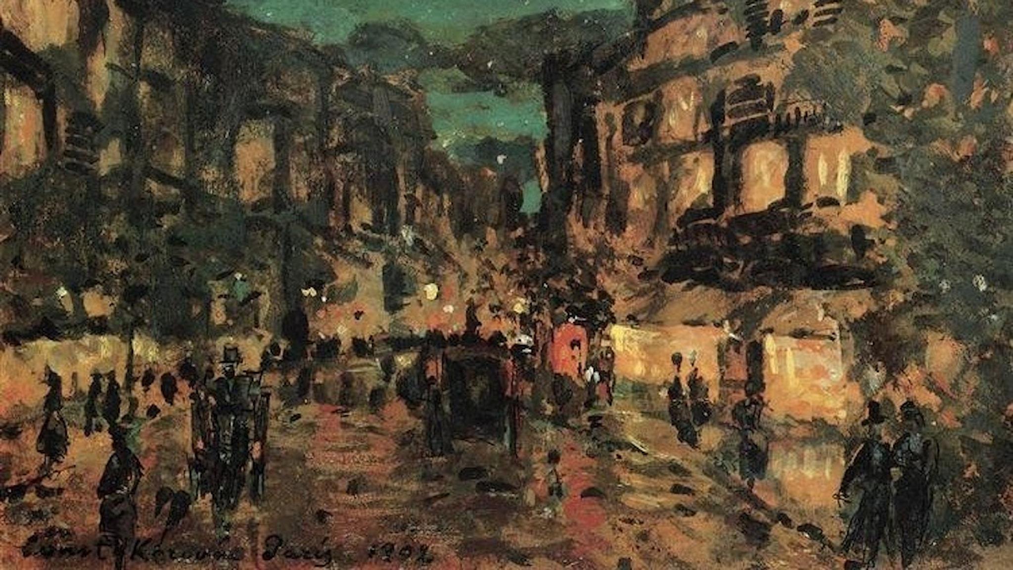 En natt i Paris. Konstantin Korovin - 1902