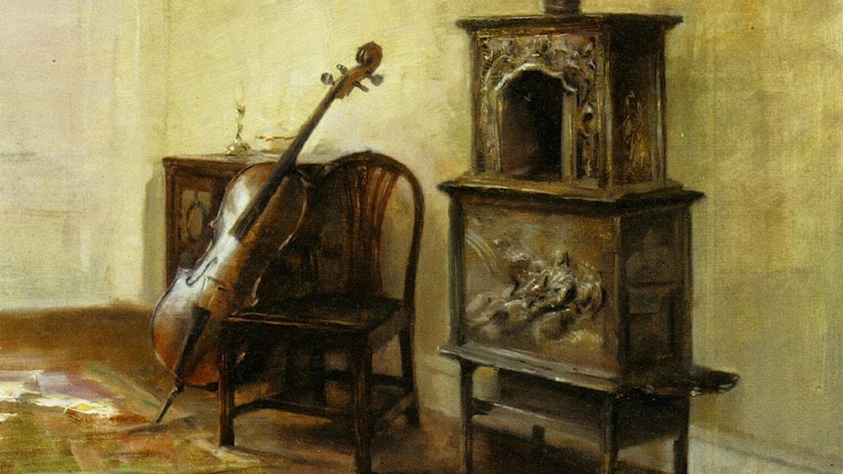 Carl-vilhelm Holsoe: Interiör med cello