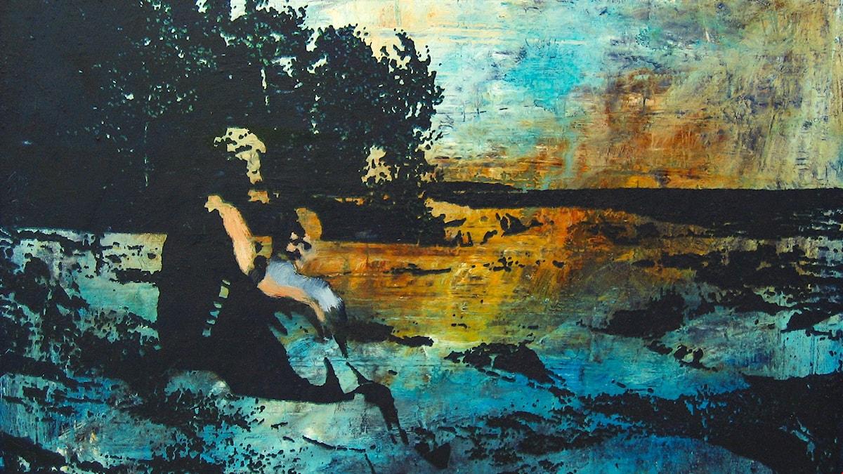 Ingarö coast målning av Mats Ceder