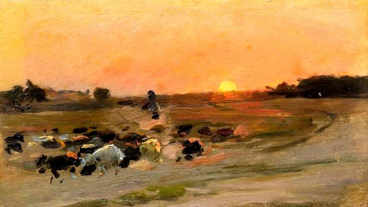 Herde med får. Mykola Pymonenko (1862-1912)