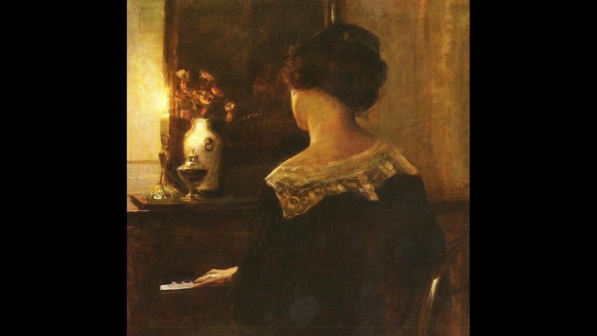 Carl-Wilhelm Holsö: Kvinna spelar piano