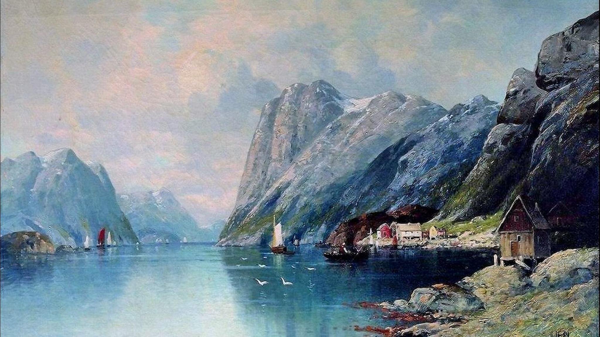 Fjord i Norge. Lev Lagorio -1899