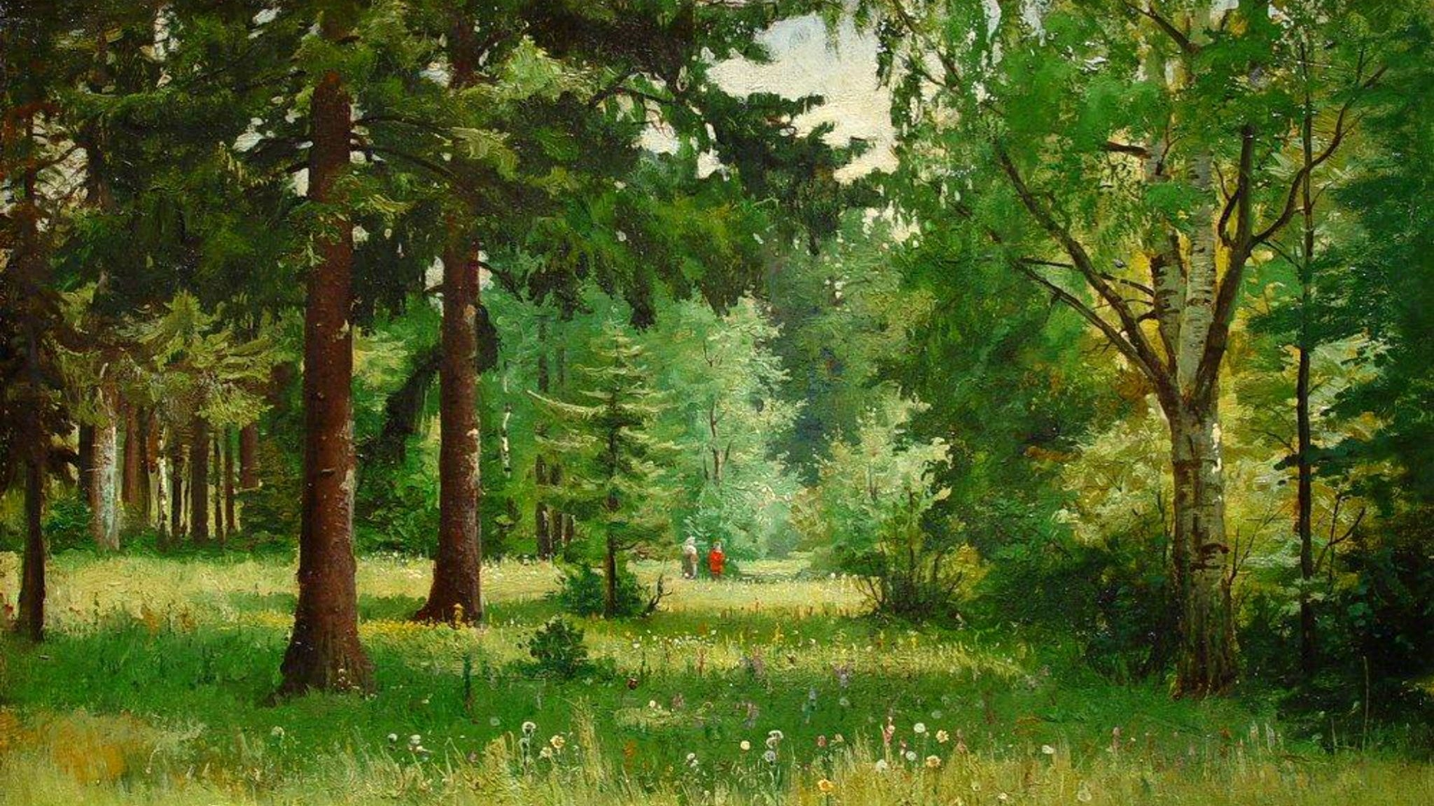 'Barn i skogen'. Ivan Shishkin (1832-1898)