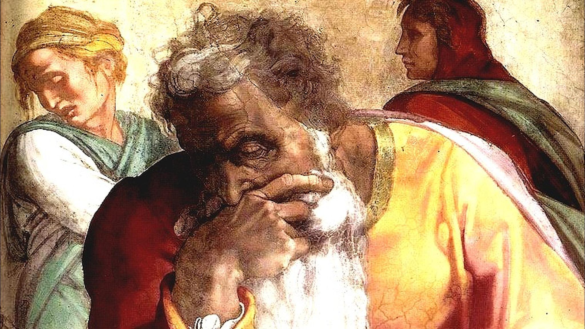 Profeten Jeremia. Michelangelo, 1512.