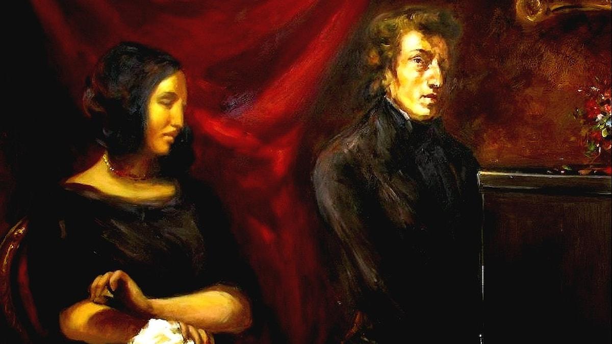 Frédéric Chopin and George Sand. Eugène Delacroix (1837).
