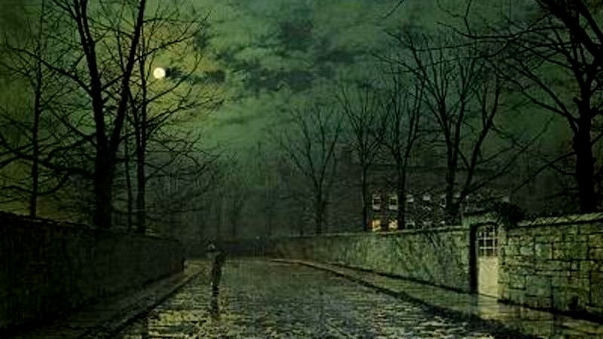 John Atkinson Grimshaw: Månsken efter regn