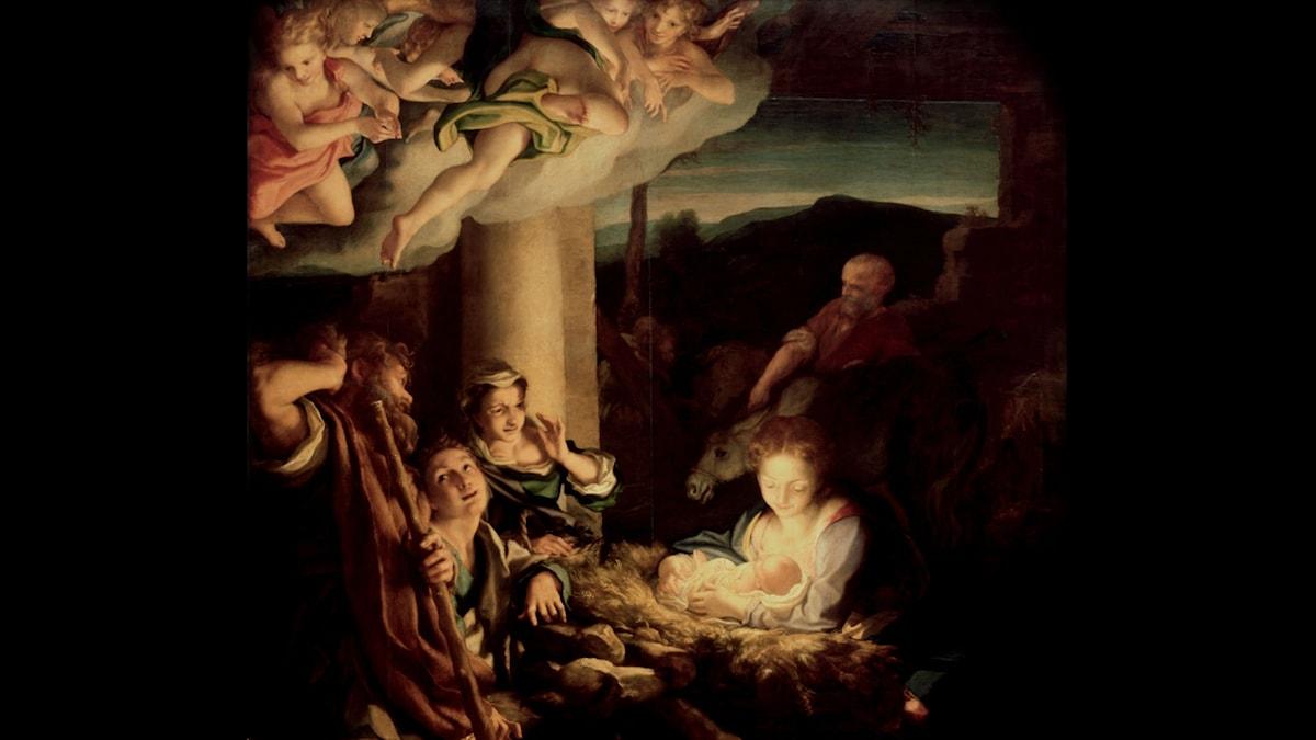Den heliga natten. Antonio da Correggio, 1522-1530.