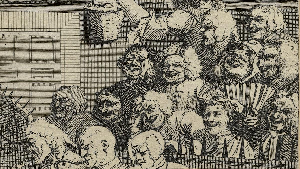 Den skrattande publiken. William Hogarth (1697-1764).