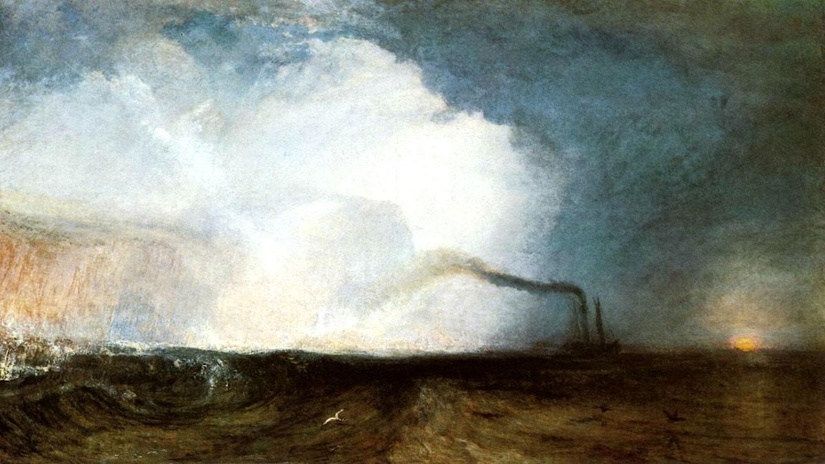 Ön Staffa med Fingals grotta, Hebriderna, Skottland. J.M.W. Turner, 1832.