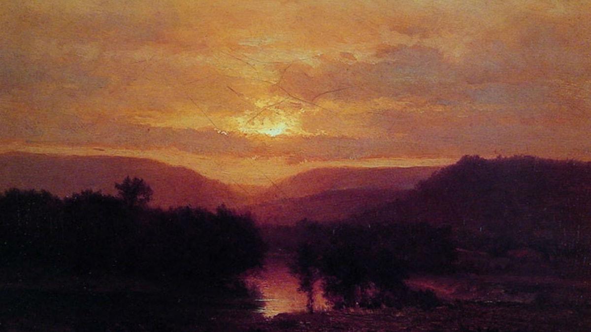 Sunset. George Inness (ca. 1865)