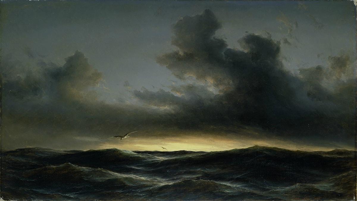 'Marin ensamhet'. Anton Melbye (1852).