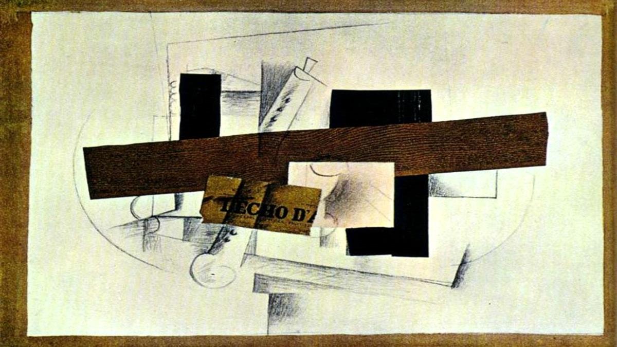 Klarinetten. Georges Braque, 1913.