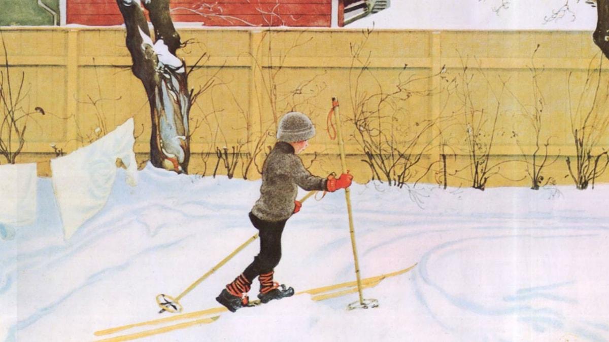 Skidåkaren. Carl Larsson (1909)