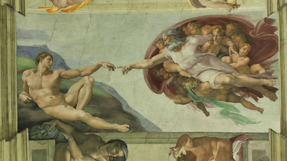 Sistine Chapel Ceiling: Creation of Adam (1510). Michelangelo