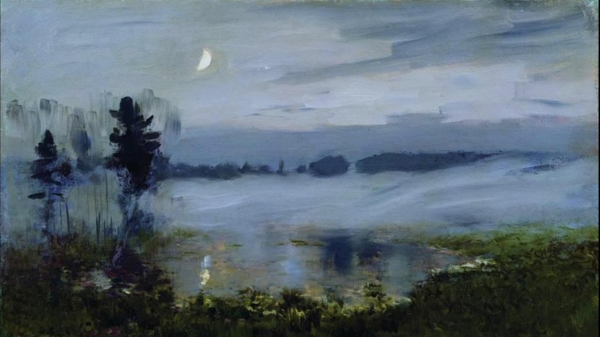 Dimma över vatten. Isaac Levitan-1895.