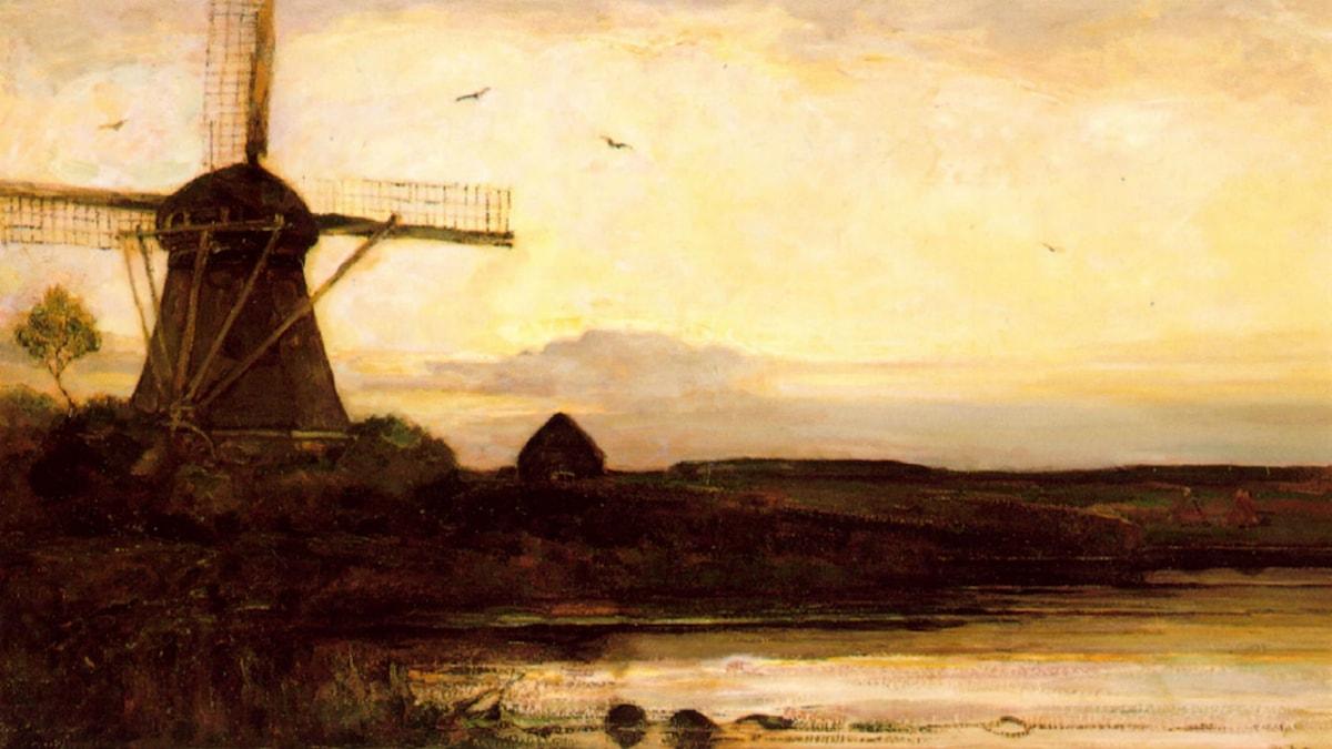 Mill in the evening. Piet Mondrian (1905)
