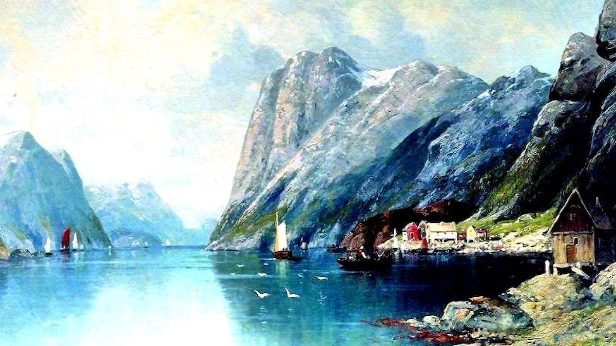 Lev Lagorio: Fjord i Norge (1899)