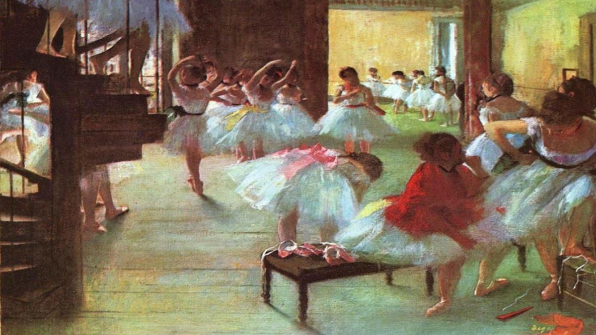 Ballet School. Edgar Degas (1873).