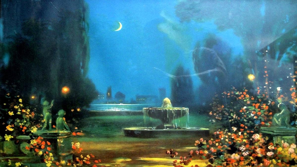 Rosor i månsken. Robert Atkinson Fox (1860-1935)
