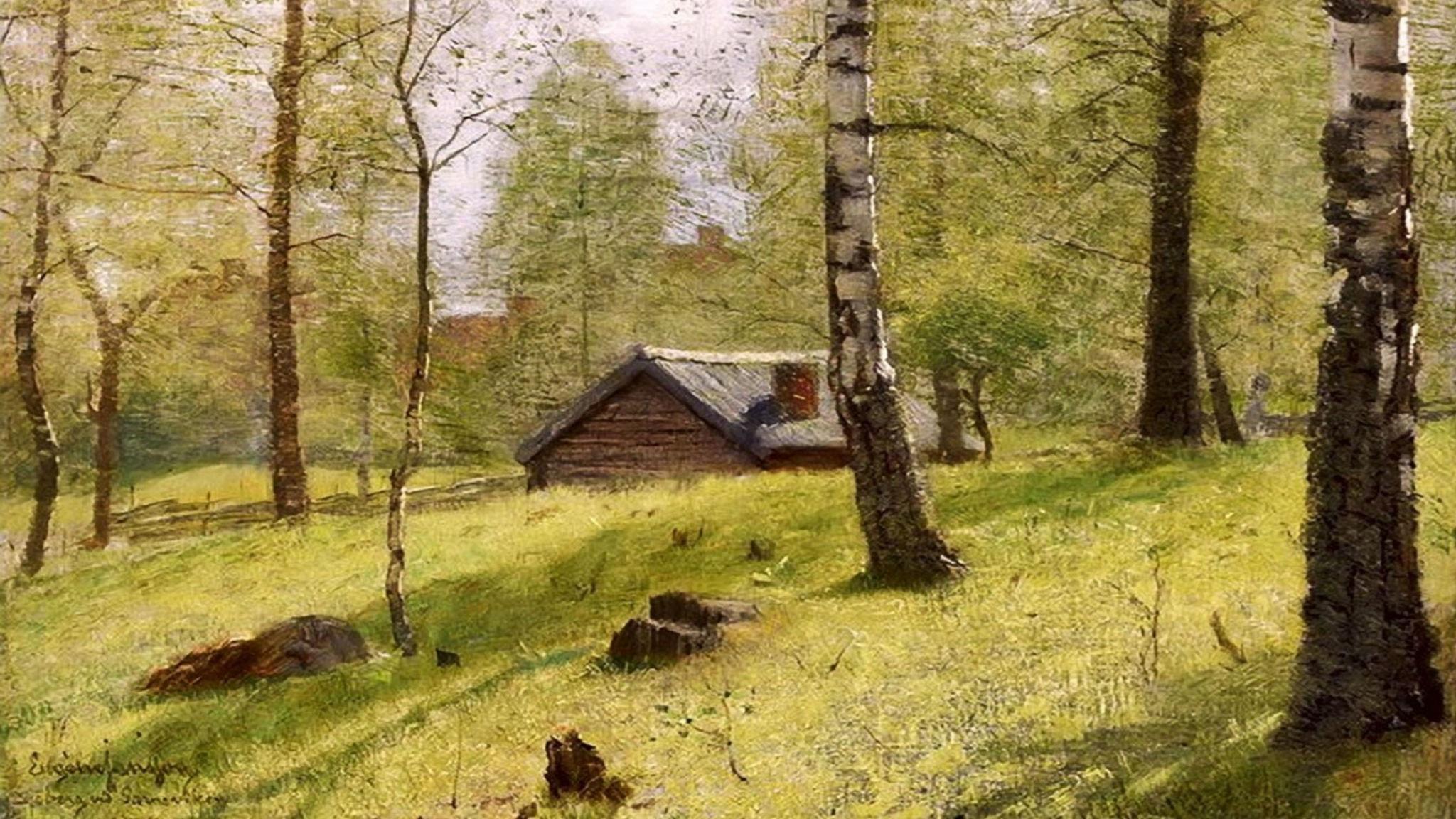 Bouleaux. Eugène Jansson (ca. 1900)