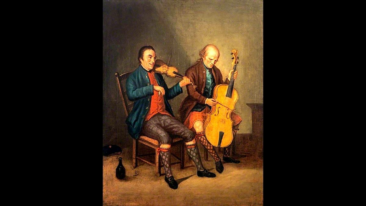David Allan: Niel Gow och hans bror Donald (1780