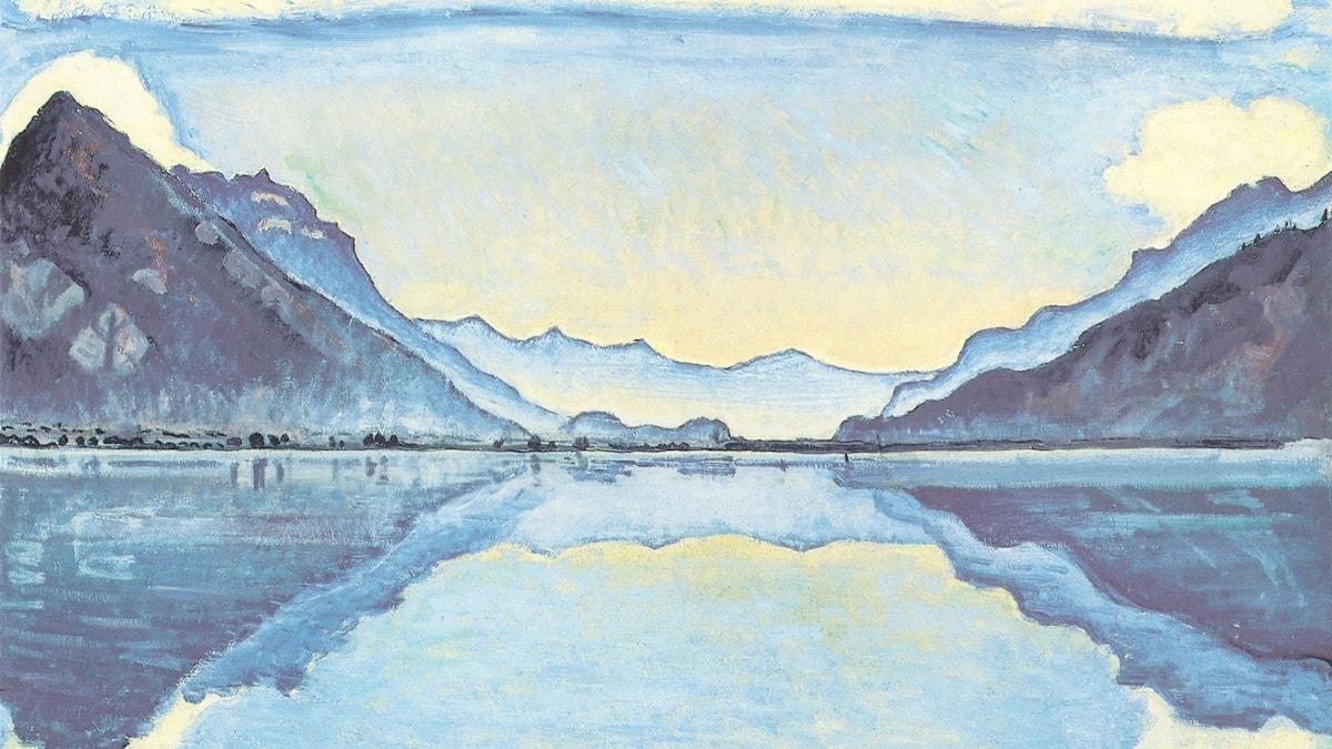 Ferdinand Hodler: Speglingar i Thun (1909)