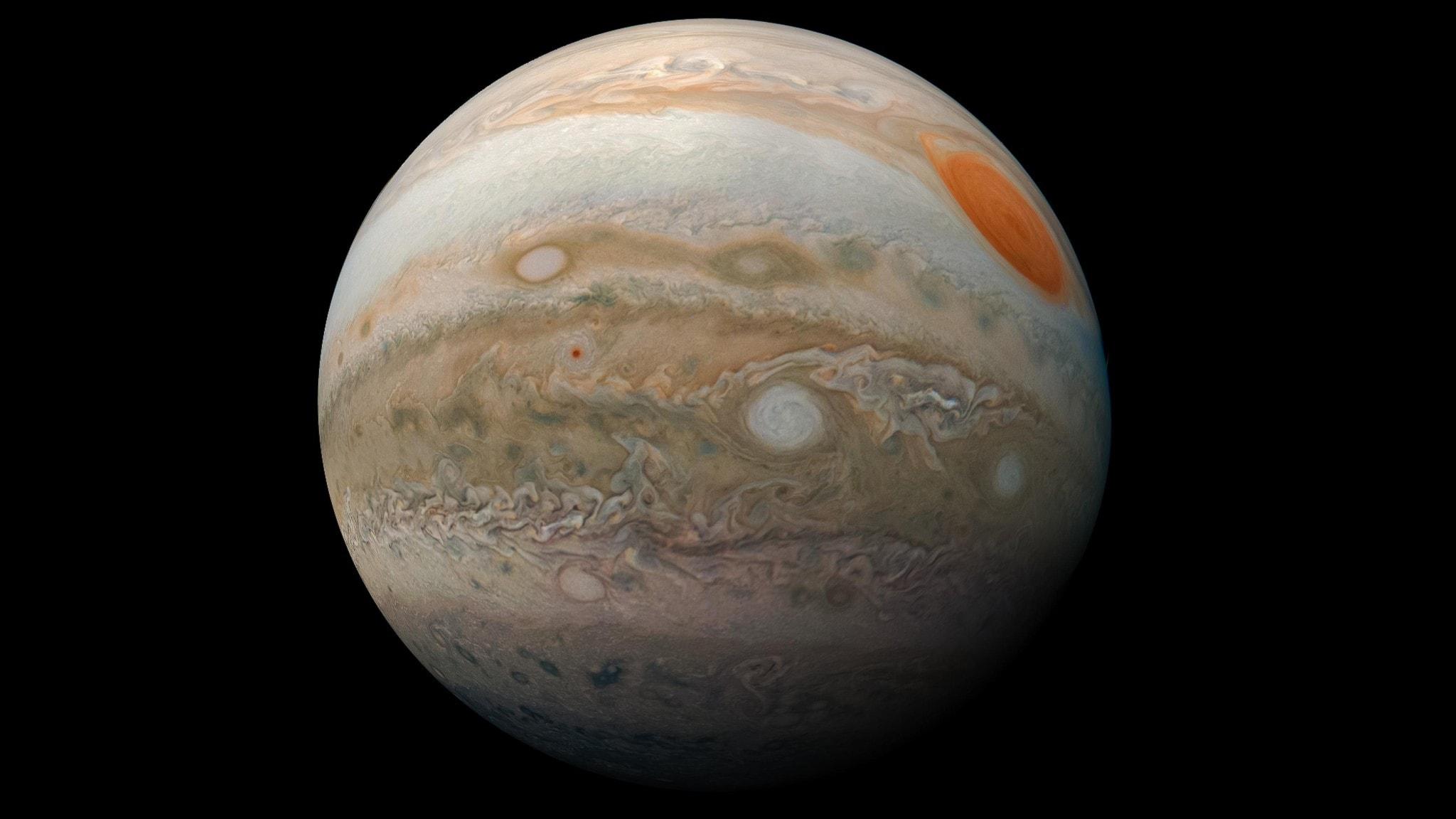 Planeten Jupiter. NASA bild. 2019. Wikimedia commons.