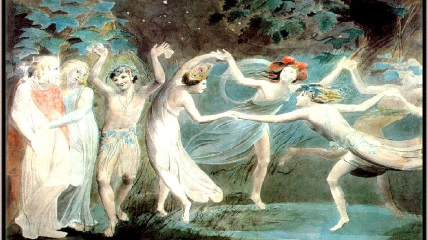 Älvdrottningen dansar in i idyllen En dröm