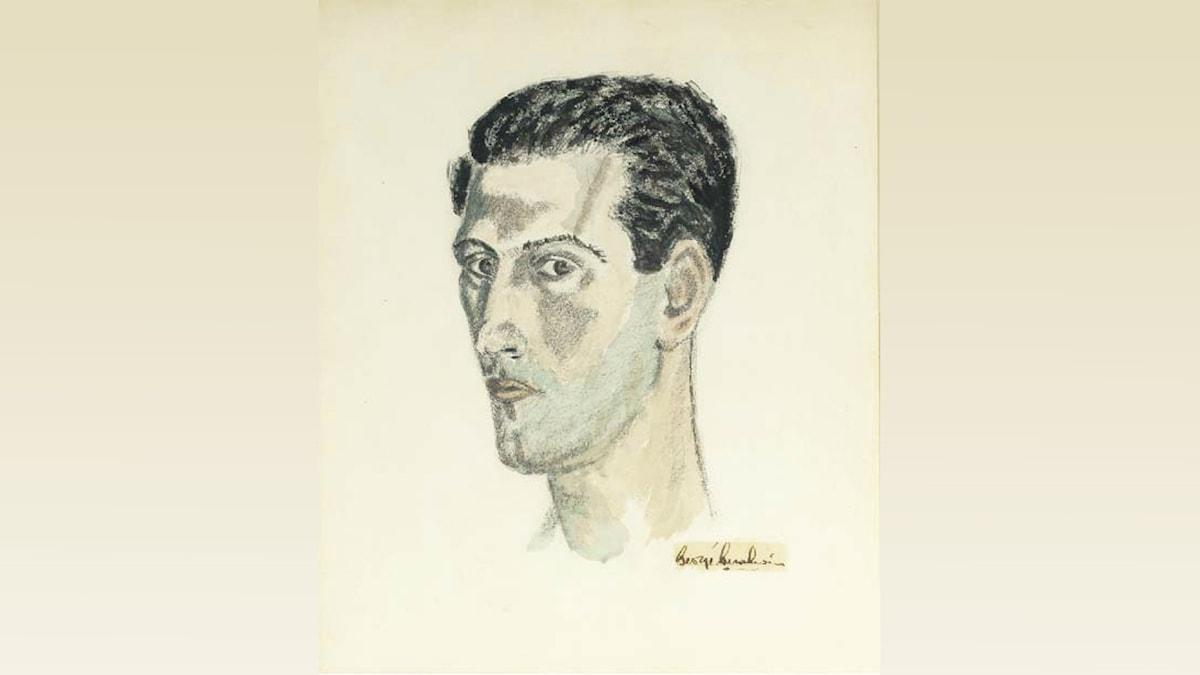 'Självporträtt'. George Gershwin (1937).