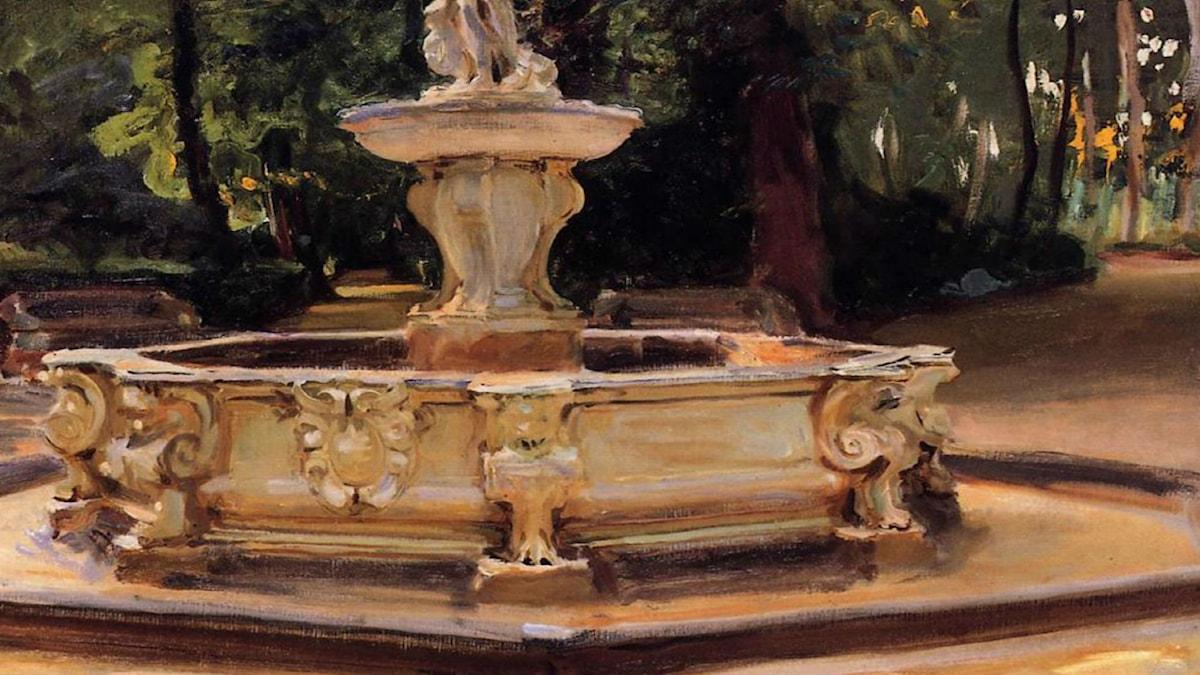 A Marble fountain at Aranjuez, Spain. John Singer Sargent (1912)