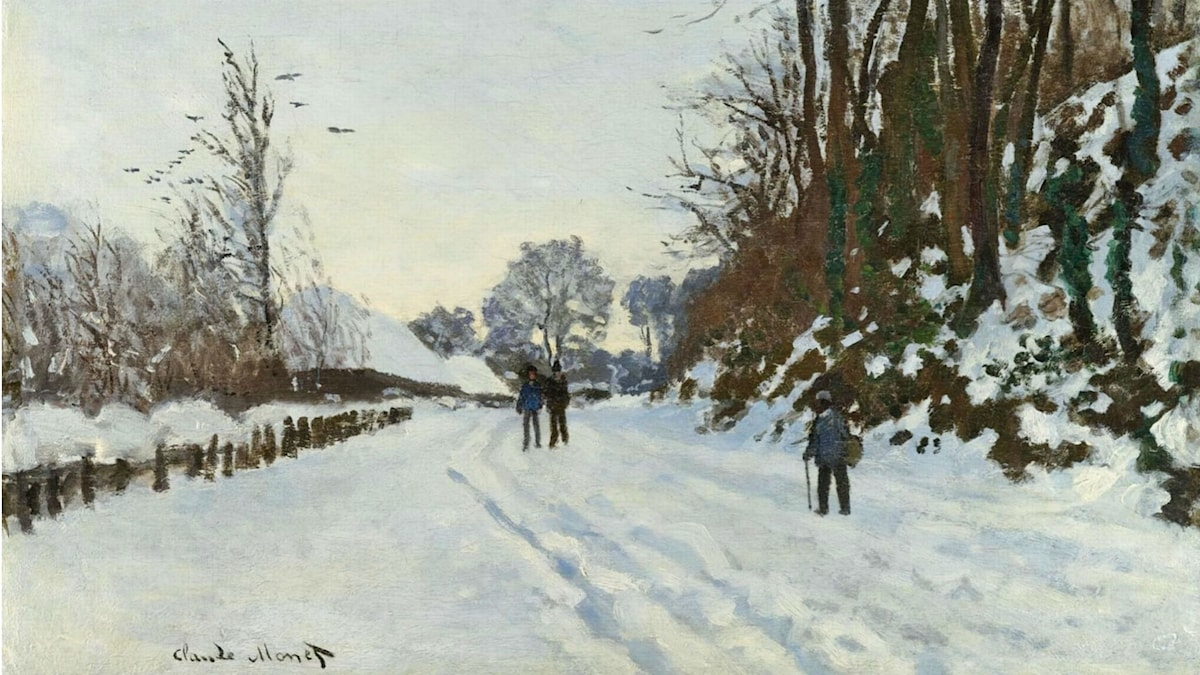 The Road to the Farm of Saint-Simeon in Winter. Claude Monet (1867)