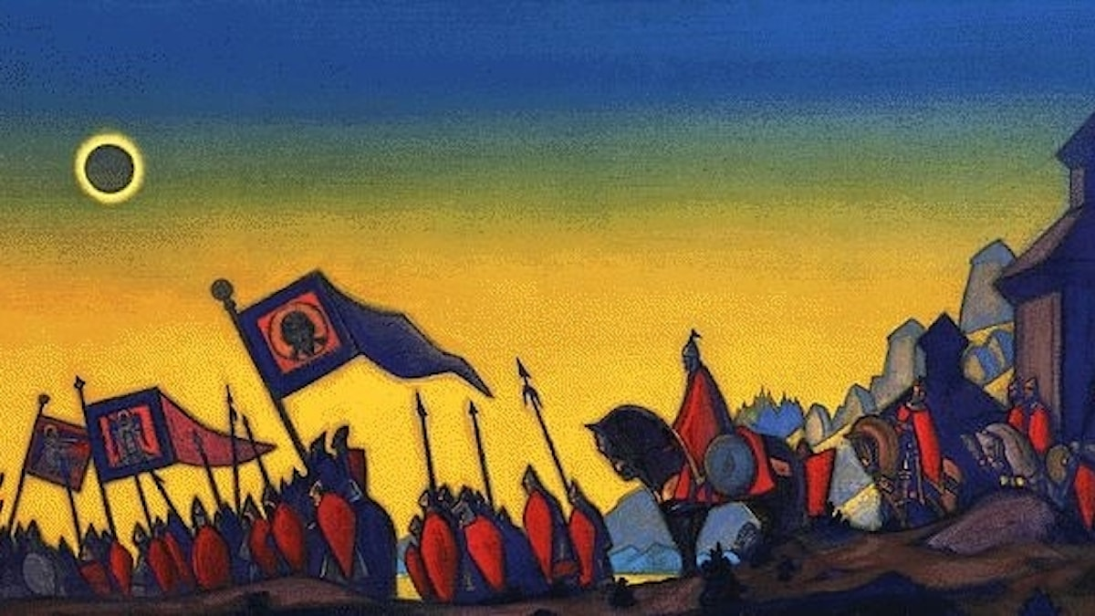 Furst Igors kampanj. Nicholas Roerich (1942).