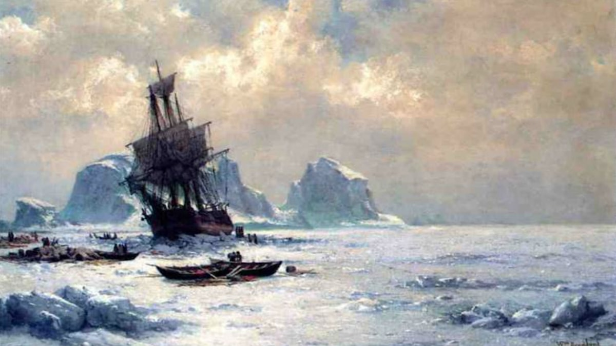Caught in the Ice. William Bradford (1882)