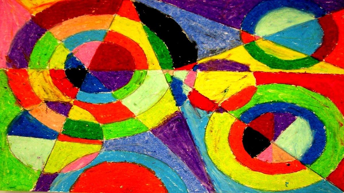 Färgexplosition. Robert Delaunay (1885-1941).