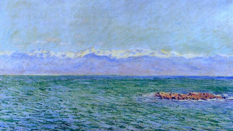 The Sea and the Alps. Claude Monet (1888)