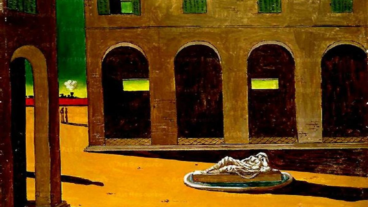 Italiensk piazza. Giorgio de Chirico, 1912.
