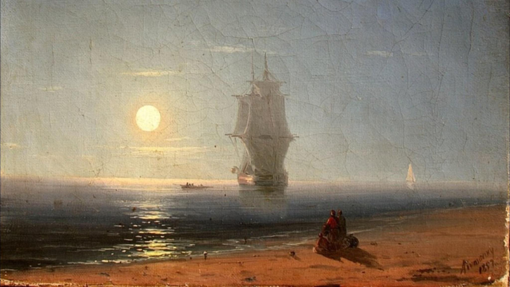 Månskensnatt (Ivan Aivazovsky, 1857).