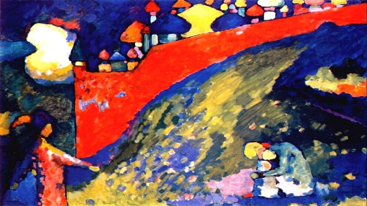 Red Wall destiny. Wassily Kandinsky, 1909.