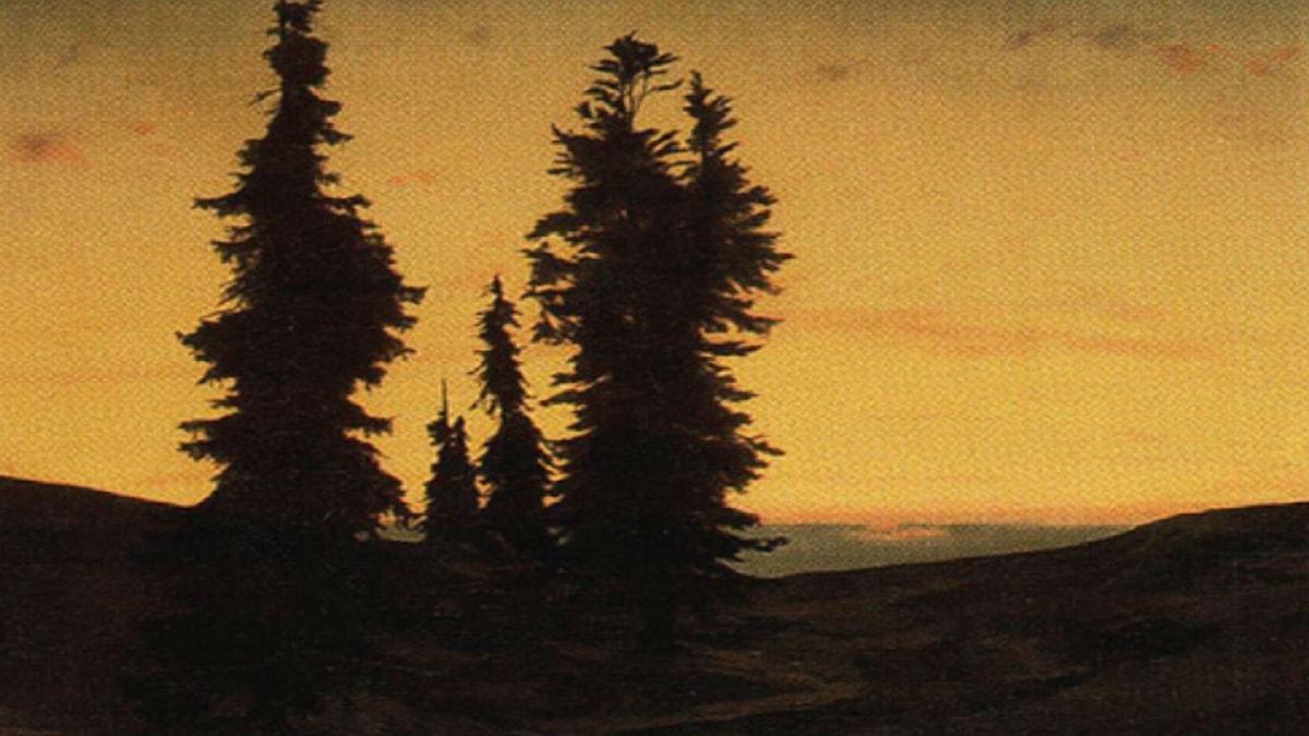 Fir Trees At Sunset. Arnold Böcklin (unknown)