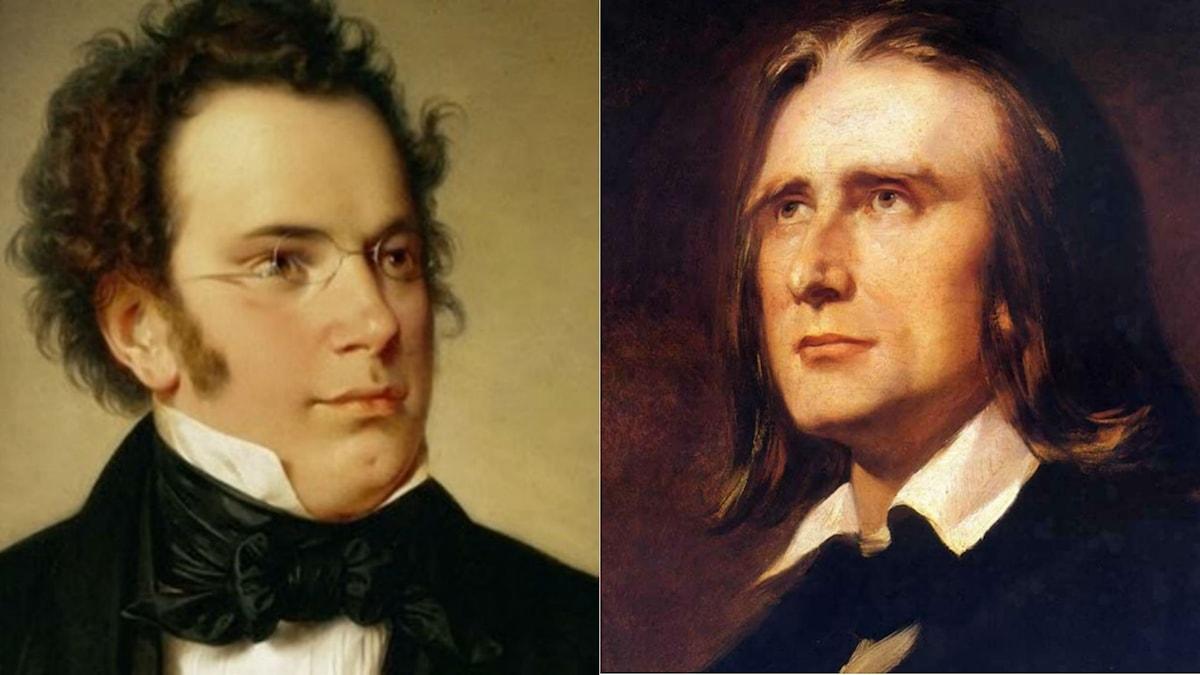 Franz Schubert och Franz Liszt. Wikipedia.